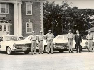 Carroll County Sheriff's Office. Circa June, 1967 Left to right: Charles Severance, Fred Long, William Scaletti, Robert Meserve